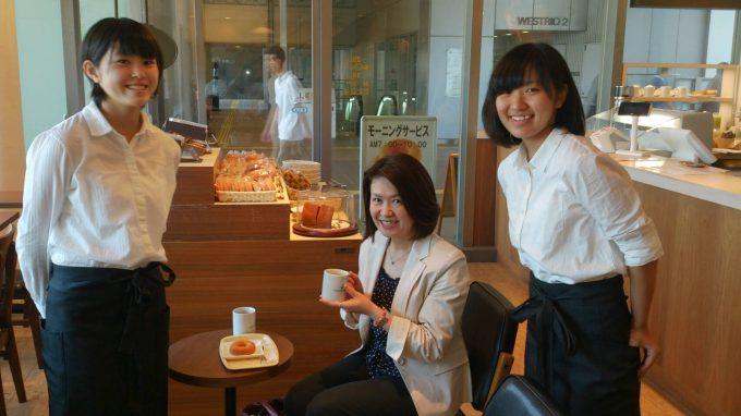 みつわ台中学校の職場体験授業で洪本さんと石井さんがきてくれました